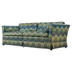 Chevron Fabric 1970s Baker Sofa