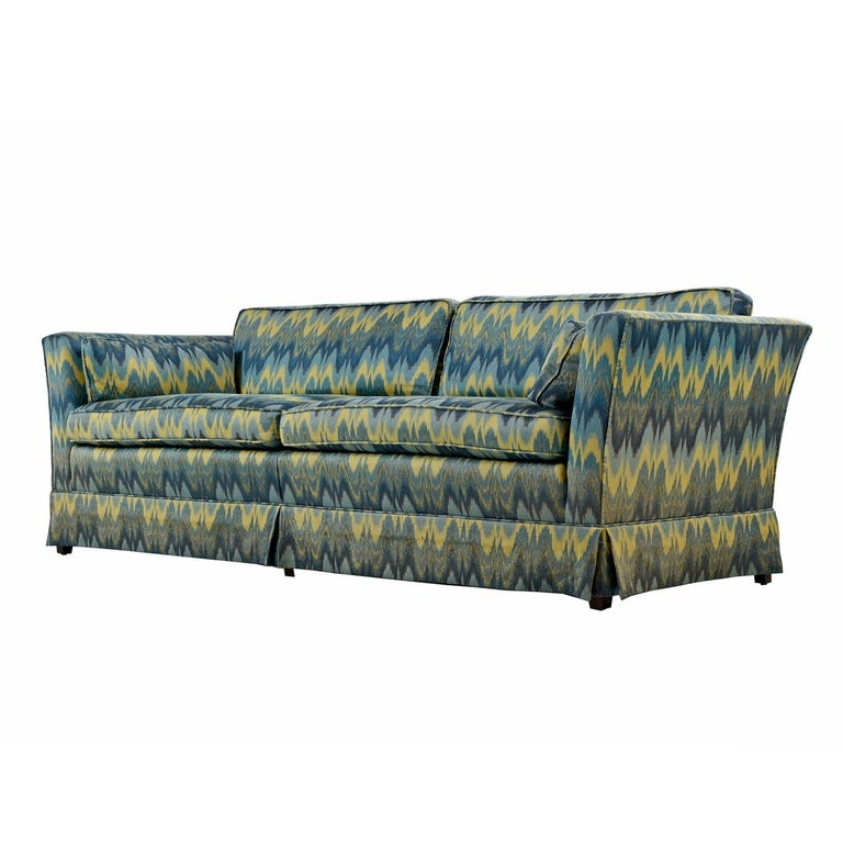 Chevron Fabric 1970s Baker Sofa Loveseat Sofa Set In Good Condition For Sale In Saint Petersburg, FL