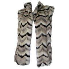 Chevron Mink Fur Vest