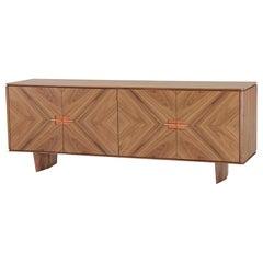 Chevron Pattern Wood Sideboard Ana