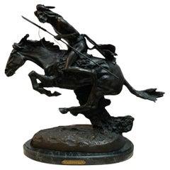 Cheyenne Bronze Sculpture by Frederic Remington
