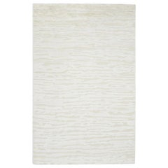 Cheyenne, Contemporary Modern Hand Knotted Area Rug, Ivory