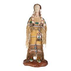 Native Cheyenne Princess Doll Sculpture