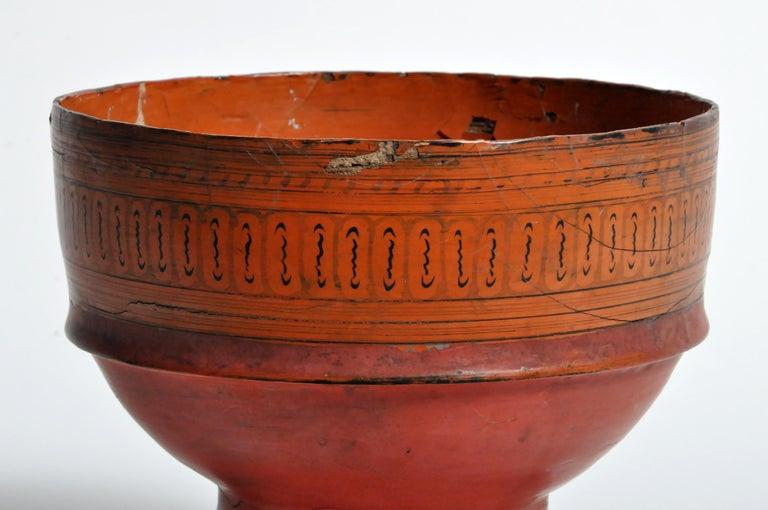 Thai Chiang Mai Lacquerware Bowl For Sale