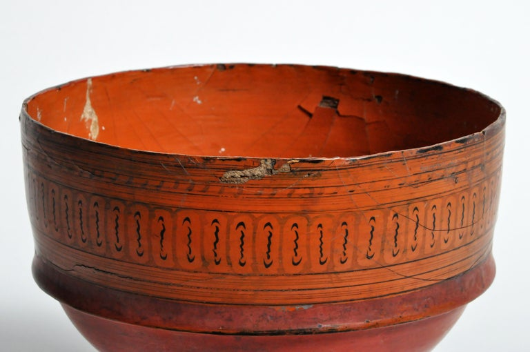 20th Century Chiang Mai Lacquerware Bowl For Sale