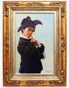 The Joker - Chías Oil painting on canvas Realism