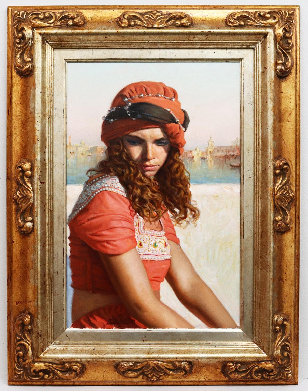 Venetian Girl - Chías Oil painting on canvas Realism