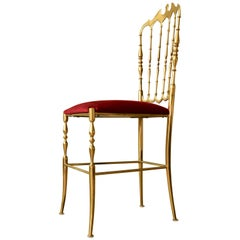 Chiavari Brass Ballroom Chair Giuseppe Gaetano Descalzi
