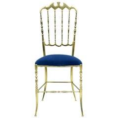 Chiavari Brass Chair, 1960s
