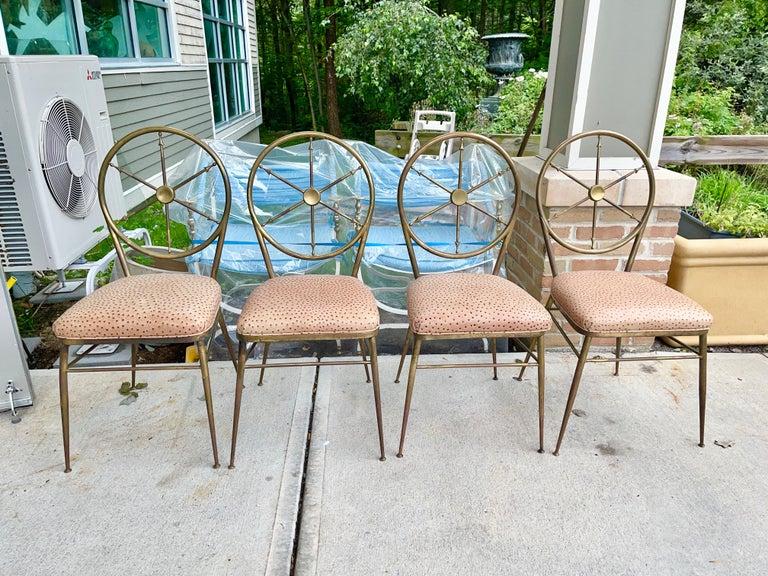 Chiavari Brass Compass Chairs, 4x For Sale 5