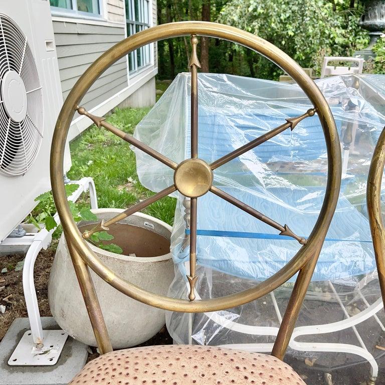 Chiavari Brass Compass Chairs, 4x For Sale 7