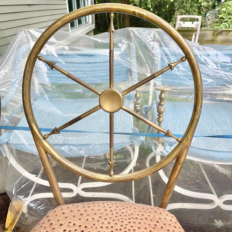 Chiavari Brass Compass Chairs, 4x For Sale 8