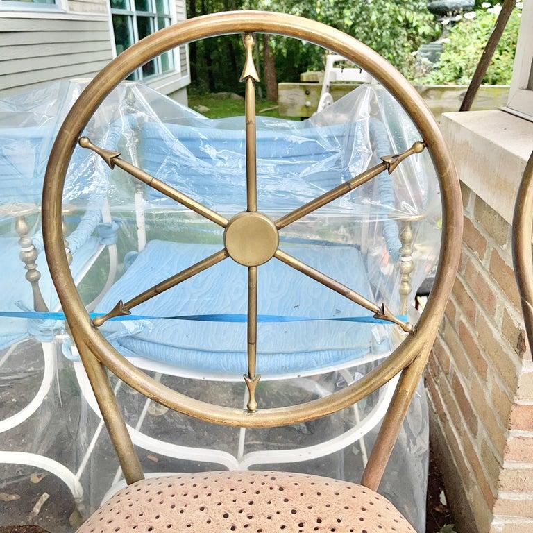 Chiavari Brass Compass Chairs, 4x For Sale 9
