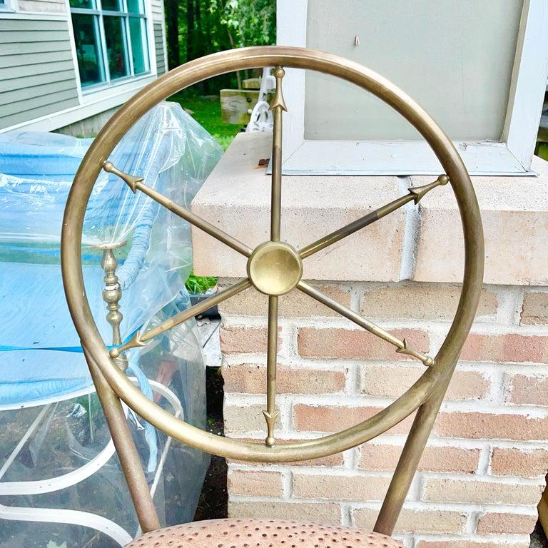 Chiavari Brass Compass Chairs, 4x For Sale 10