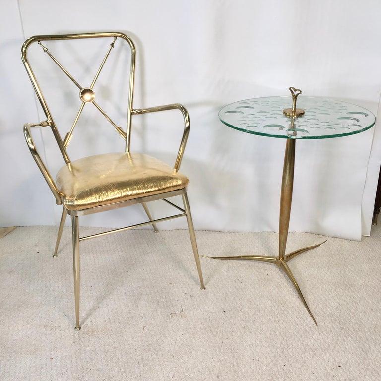 Chiavari Brass Compass Chairs, 4x For Sale 12