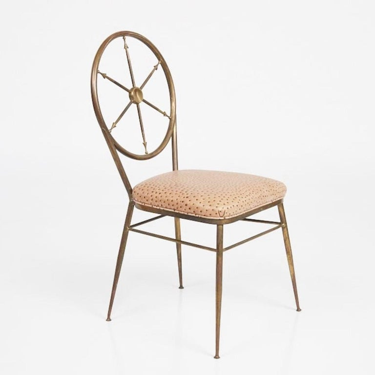 Chiavari Brass Compass Chairs, 4x In Good Condition For Sale In Hingham, MA