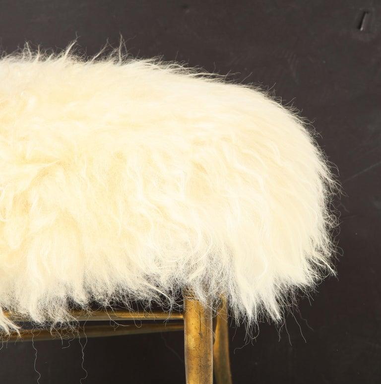 Chiavari Brass, Sheepskin Chair For Sale 4