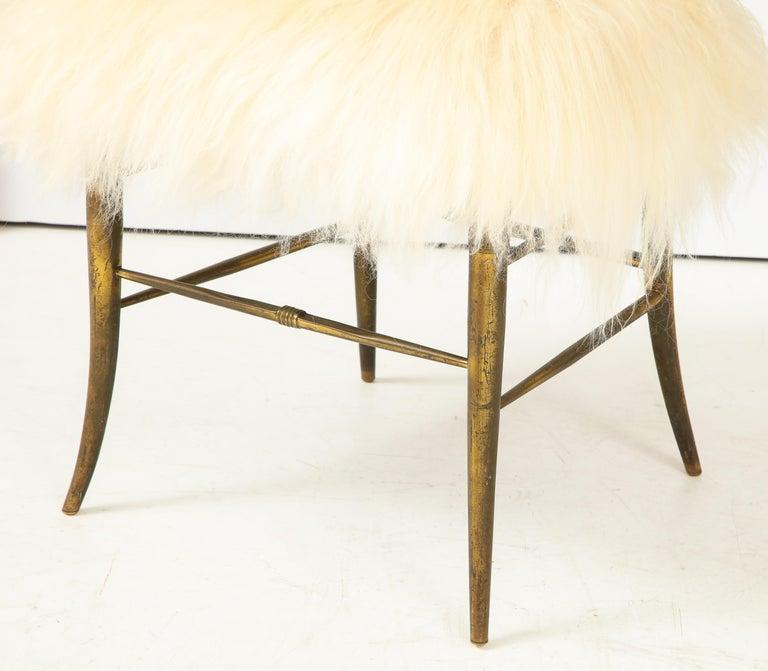 Chiavari Brass, Sheepskin Chair For Sale 6