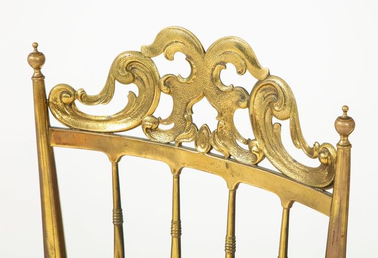 Chiavari Brass, Sheepskin Chair For Sale 1