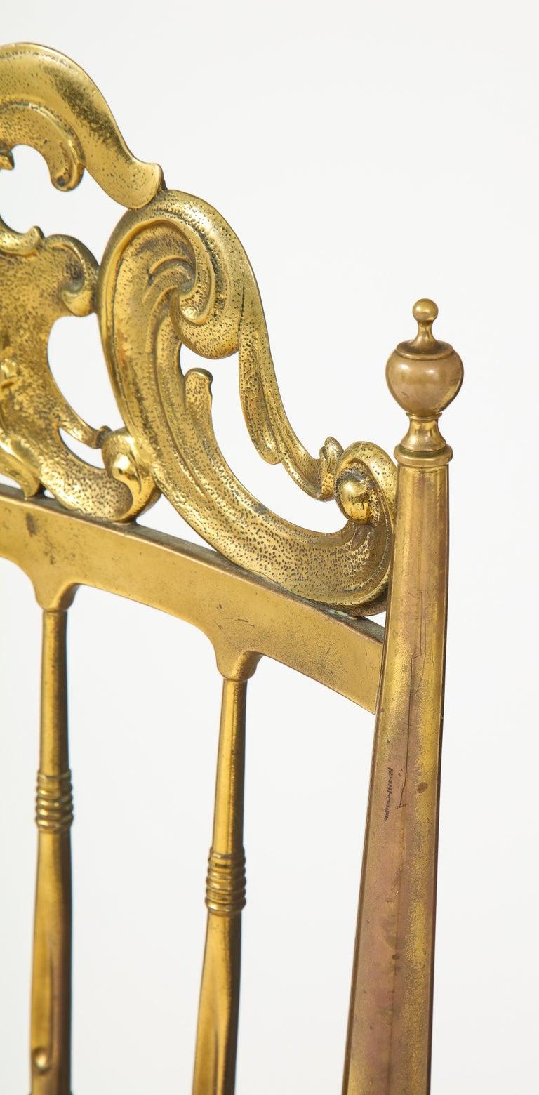 Chiavari Brass, Sheepskin Chair For Sale 2