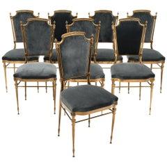 Chiavari Dining Chairs, Set of Eight