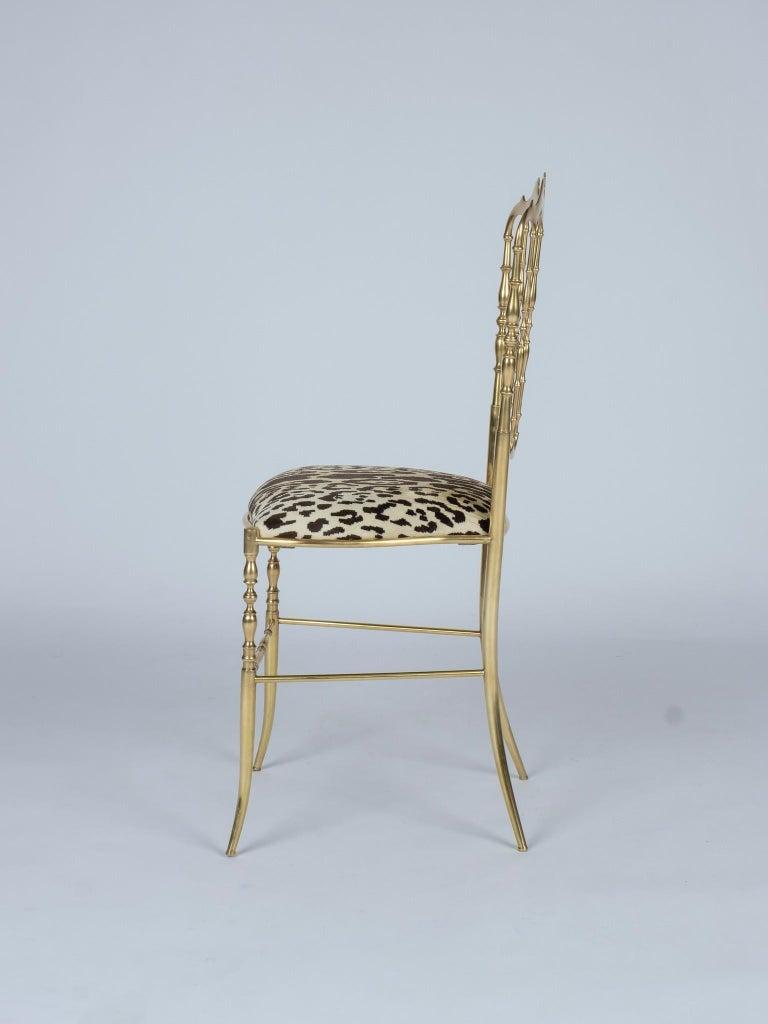 Napoleon III Chiavari Leopord Velvet Chair