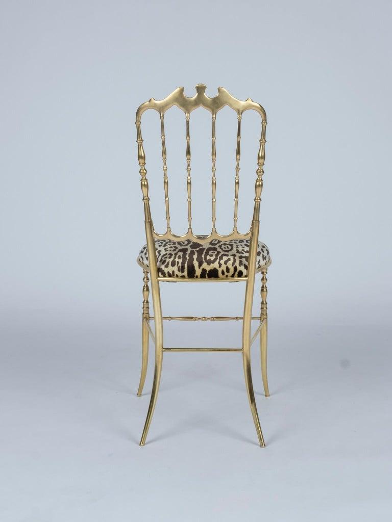 European Chiavari Leopord Velvet Chair