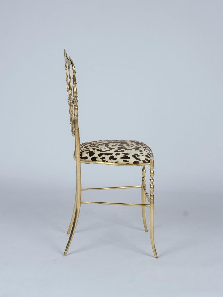 Chiavari Leopord Velvet Chair In Good Condition In Houston, TX