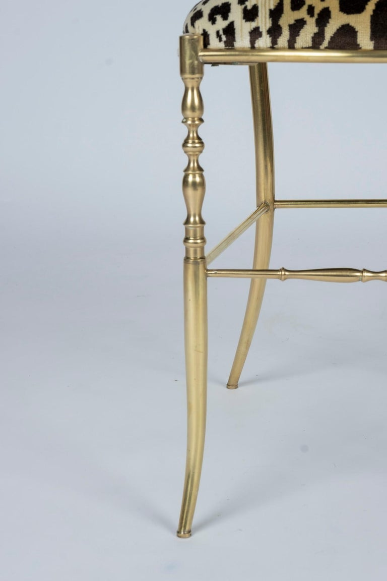 Brass Chiavari Leopord Velvet Chair