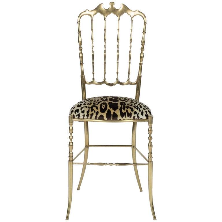 Chiavari Leopord Velvet Chair