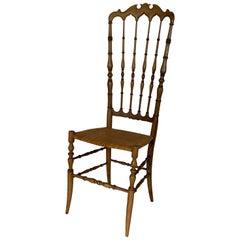 Chiavari Mid-Century Modern Beechwood Chair, 1940s, Italy