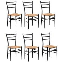 Chiavari Spinetto Dinning Chairs, Chiavari, Italy, 1950s
