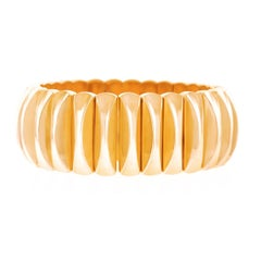 Chic 1950s Modernist Gold Bracelet