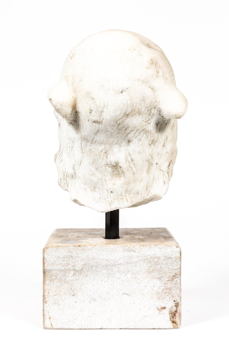 Carved Chic, Ancient-Style, Roman Marble Bust For Sale