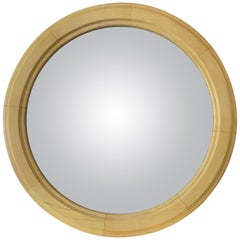Chic and Very Large 19th Century Parisian Antique Convex Bullseye Mirror