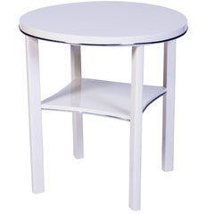 Chic Art Deco Side Table in White