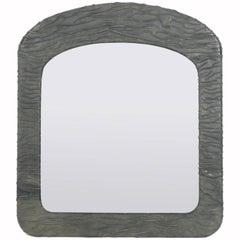 Chic Artist Made Leather Mirror, circa 1980s
