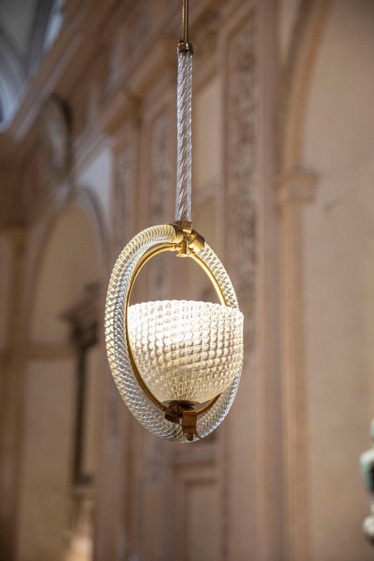 Mid-Century Modern Chic Barovier Pendant For Sale