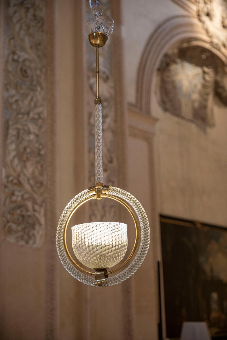 Chic Barovier Pendant In Excellent Condition For Sale In Carpaneto Piacentino, Italy