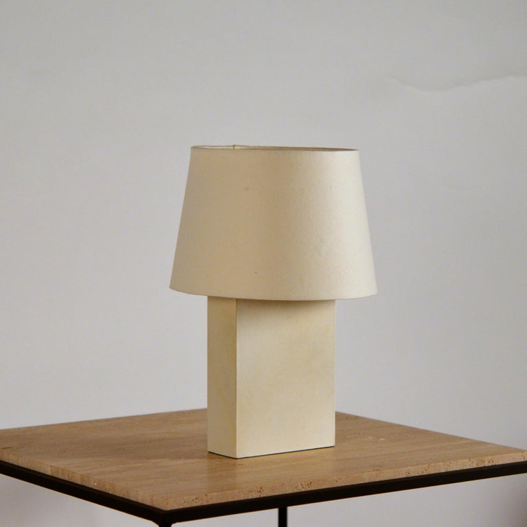 Chic 'Bloc' parchment table lamp by Design Frères.