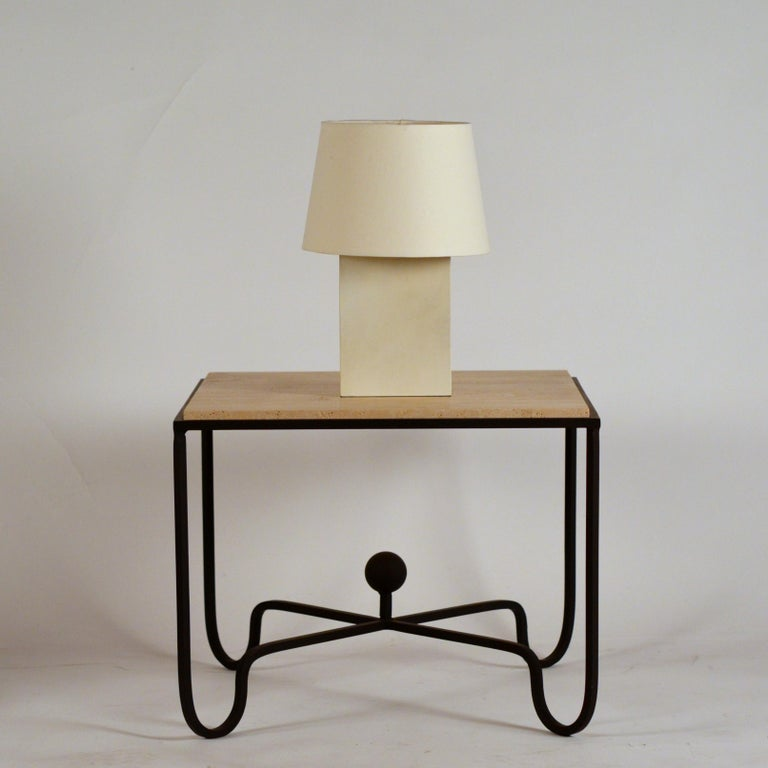 French Chic 'Bloc' Parchment Table Lamp by Design Frères For Sale