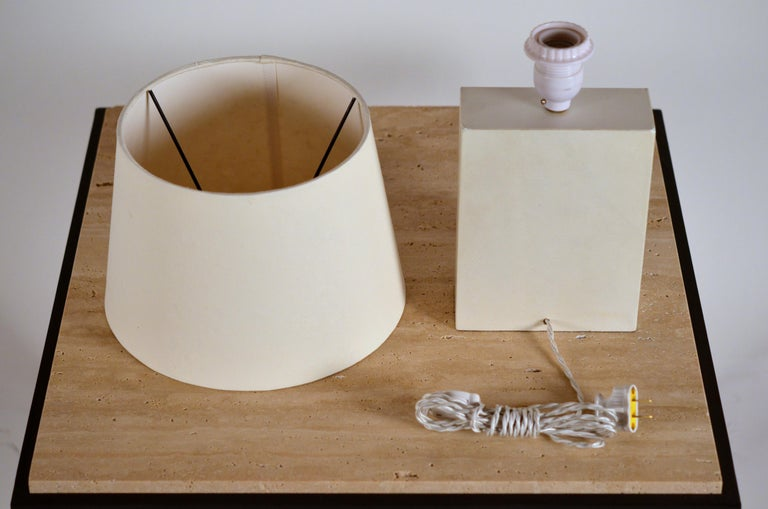 Chic 'Bloc' Parchment Table Lamp by Design Frères In New Condition For Sale In Los Angeles, CA