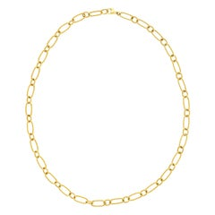 Chic Cable Twist Gold Necklace