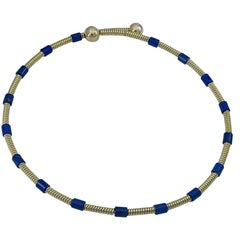 Chic Cartier Gold and Lapis Choker