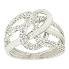 Chic Classic Diamond White Diamond Modern Gold Ring