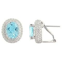 Chic Every Day Natkina Lever-Back Precious Diamond Topaz Earrings