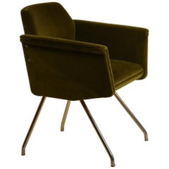 Chic French 1950s 'Prisme' Armchair by Joseph-André Motte