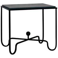 Chic Grey Slate 'Entretoise' Side Table by Design Frères