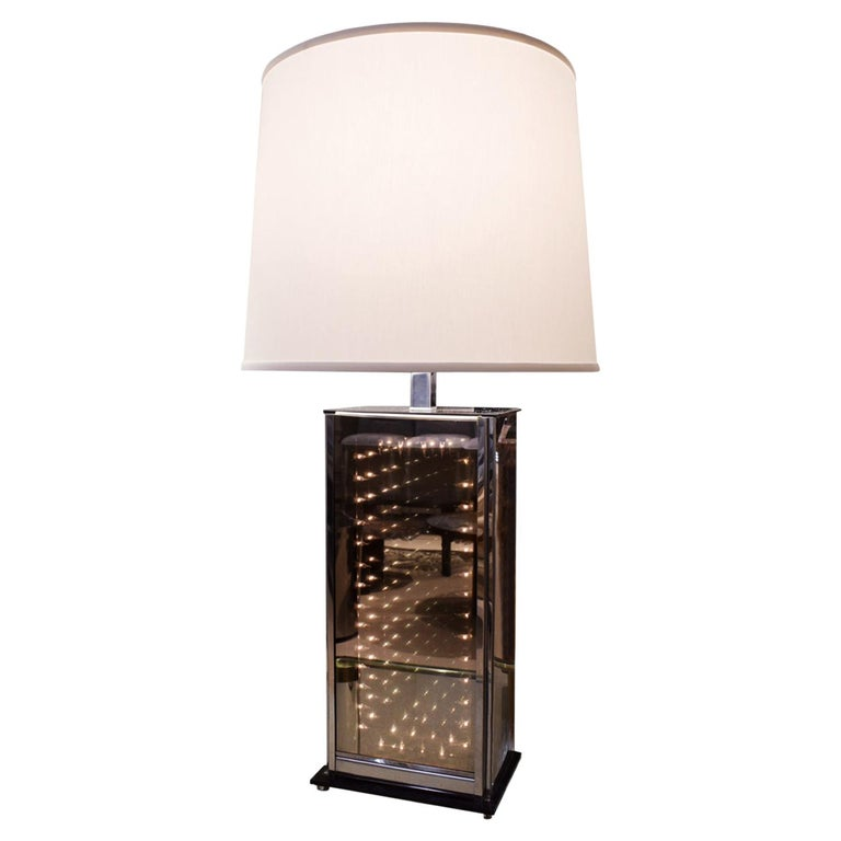 Chic Infinity Table Lamp 1970s For, Infinity Table Lamp