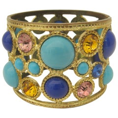 Chic Kenneth Jay Lane Bracelet, Marked KJL